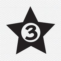 Illustration de conception d'icône d'hôtel 3 étoiles