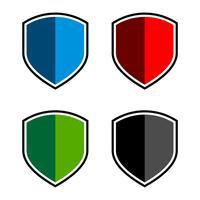 Projeto colorido ajustado da ilustração do molde do logotipo do protetor. Vetor eps 10