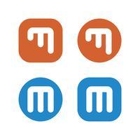 Set M Letter Logo Template Illustration Design. Vector EPS 10.