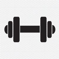 Dumbbell icon  symbol sign