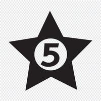 illustrazione di disegno dell'icona dell'hotel delle cinque stelle