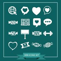 Set of web icons for website and communication