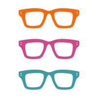 Kleurrijk Geek Glasses Logo Template Illustration Design. Vector EPS 10.