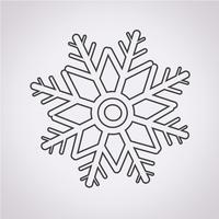 snöflinga ikon symbol tecken