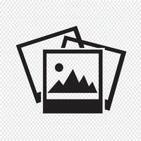 Segno di simbolo dell'icona di fotografia