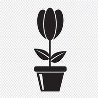 icono de flor símbolo de signo