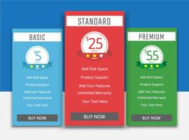 Pricing table list pack