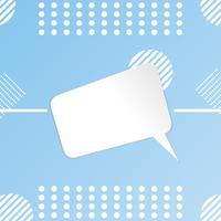Papier gesneden witte sjabloon Ontwerp lege banner poster verkoop op hemelachtergrond kleur. ontwerp vectorillustratie