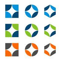 Progettazione stabilita dell'illustrazione del modello di logo di forma della stella. Vettore ENV 10.