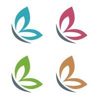 Bunter Flügel des Schmetterlinges Logo Template Illustration Design. Vektor EPS 10.