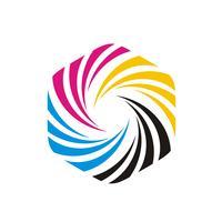 Logo sjabloon zeshoek vorm afbeelding ontwerp afdrukken. Vector EPS 10.