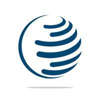 Modello di logo del globo per progettazione dell'illustrazione di affari di comunicazione. Vettore ENV 10.