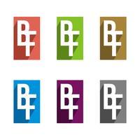 B F or F B Letter Logo Template Illustration Design. Vector EPS 10.