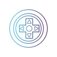 linha design de tecnologia de botões de controlador de videogame