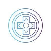 controlador de videojuegos de línea botones tecnología diseño