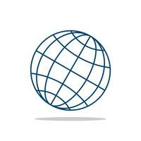 Globe Line Vector Logo Modèle Illustration Design. Vecteur EPS 10.