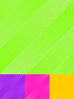 Set of striped diagonal lines pattern colorful bright color background and texture.
