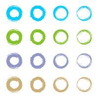 Set Kreis Grunge Logo Template Illustration Design. Vektor EPS 10.