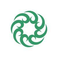 Kreis-Stammes- dekoratives Logo Template Illustration Design. Vektor EPS 10.