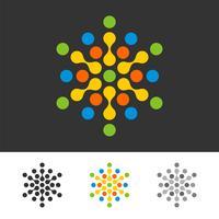 Pixel-Punktvektor Logo Template Illustration Design. Vektor EPS 10.