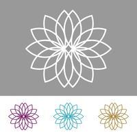 Metta la progettazione dell'illustrazione del modello di vettore del fiore ornamentale. Vettore ENV 10.