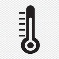 Thermometer pictogram symbool teken
