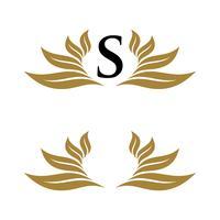 Anfangsblatt-Kranz-dekoratives Logo Template Illustration Design. Vektor EPS 10.