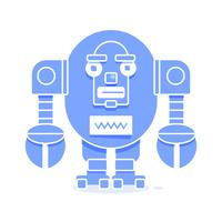Bot Icon. Chatbot Icon Concept. Cute Smiling Robot. Vector Modern Line Character Illustration Isolated On White Background. Outline Robot Sign Design.