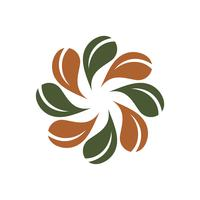 Flor verde de la hoja Logo Template Illustration Design. Vector EPS 10.