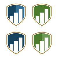 Stock Exchange Shield Logo Template Illustration Design. Vector EPS 10.