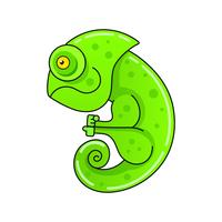 Chameleon Icon. Cartoon Illustration Of Walking Chameleon