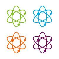 Projeto colorido da ilustração do molde do logotipo da química da ciência do grupo. Vetor eps 10