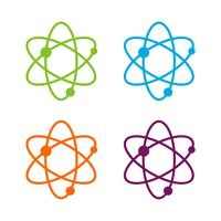 Set Colorful Science Chemistry Logo Template Illustration Design. Vector EPS 10.