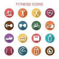 iconos de fitness larga sombra