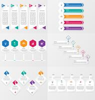 Set of infographics element template with options.