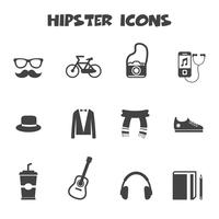 hipster icons symbol