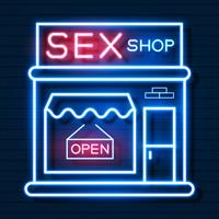Sex Shop Now Neon Sign. Ready For Your Design, Greeting Card, Banner. Vector
