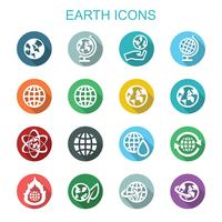 earth long shadow icons