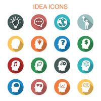 idea long shadow icons
