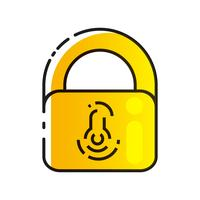 Lock Icon Vector. Lock Vector Design. Sign Design. Flat Style.