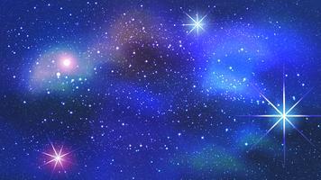 Färgglada nebula i rymdbakgrund. Vektor illustration.