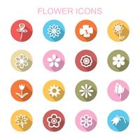 flower long shadow icons