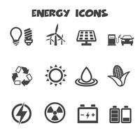 símbolo de los iconos de energía