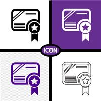 Certificate Icon  symbol sign