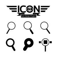Sök Ikon symbol tecken