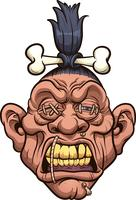 Shrunken head vector