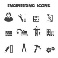 engineering icons symbol vector