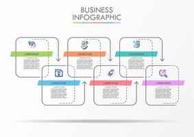 Business data visualization. timeline infographic icons designed for abstract background template. vector