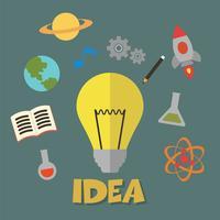 vector de concepto de idea