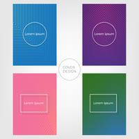 Abstract Minimal Cover Design. Colorful Halftone Gradient Background. Vectors Illustrations.